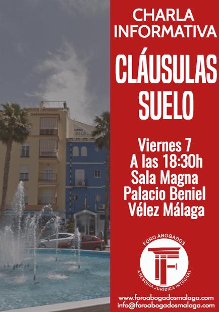 Charla informativa sobre cl usulas suelo en v lez m laga for Clausula suelo mayo 2017